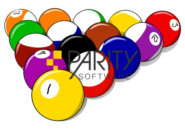 Set of billiard balls, 15 balls